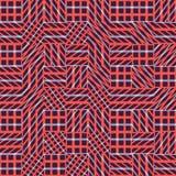 Modèle sans couture abstrait de vecteur d'intersecter les ornements diagonaux illustration stock