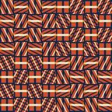 Modèle sans couture abstrait de vecteur d'intersecter les ornements diagonaux Images stock