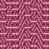 Modèle sans couture abstrait de vecteur d'intersecter les ornements diagonaux Images libres de droits
