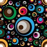 Modèle sans couture abstrait de vecteur des cercles Photo stock