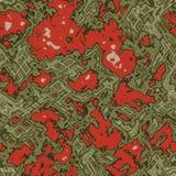 Modèle sans couture abstrait de vecteur des ornements organiques illustration stock