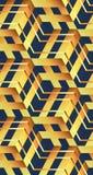 Modèle sans couture abstrait des cubes en zootyh Texture cubique Photographie stock libre de droits