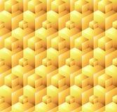 Modèle sans couture abstrait des cubes en zootyh Texture cubique Image stock