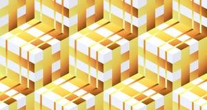 Modèle sans couture abstrait des cubes en zootyh Texture cubique Photos stock