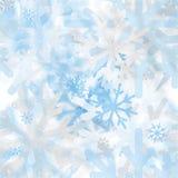 Modèle sans couture abstrait des flocons de neige troubles Image stock