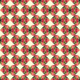 Modèle sans couture abstrait des formes géométriques Photos stock