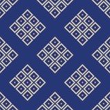 Modèle sans couture abstrait des losanges Répétition des tuiles géométriques illustration de vecteur