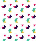 Modèle sans couture abstrait des triangles Mouvement des formes géométriques illustration stock