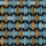 Modèle sans couture abstrait en métal avec les bandes rouillées illustration stock