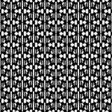 Modèle sans couture abstrait en noir et blanc Photos libres de droits