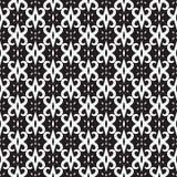 Modèle sans couture abstrait en noir et blanc Photos stock