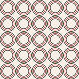 Modèle sans couture abstrait fait de cercles de couleur symétriques illustration libre de droits