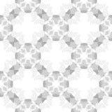 Modèle sans couture abstrait gris croisé de cercle Images stock
