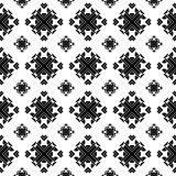 Modèle sans couture abstrait minimaliste noir et blanc Photos stock