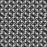 Modèle sans couture abstrait minimaliste noir et blanc Photo stock