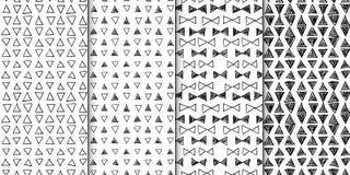 Modèle sans couture abstrait réglé avec les triangles tirées par la main Image stock