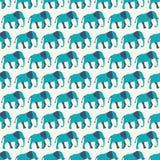 Modèle sans couture animal de vecteur d'éléphant Illustration Stock