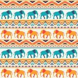 Modèle sans couture animal de vecteur d'éléphant Illustration Libre de Droits