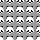 Modèle sans couture animal de vecteur mignon d'ours panda illustration libre de droits