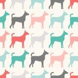 Modèle sans couture animal des silhouettes de chien Image stock