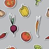 Modèle sans couture assorti de légumes Photo libre de droits