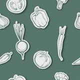 Modèle sans couture assorti de légumes Photo stock