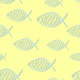 Modèle sans couture avec Christian Fish Symbols illustration libre de droits