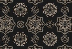 Modèle sans couture avec de beaux mandalas Image libre de droits