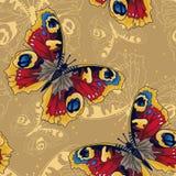Modèle sans couture avec de beaux papillons Image libre de droits