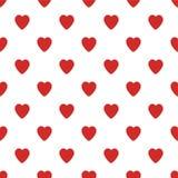Modèle sans couture avec de petits coeurs Fond de jour de valentines illustration de vecteur