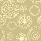 Modèle sans couture avec des éléments des ornements russes Image stock