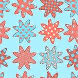 Modèle sans couture avec des étoiles de patchwork Photo libre de droits