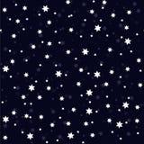 Modèle sans couture avec des étoiles sur le bleu marine illustration de vecteur