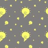 Modèle sans couture avec des ampoules illustration libre de droits