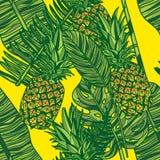 Modèle sans couture avec des ananas illustration de vecteur