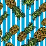 Modèle sans couture avec des ananas Photos stock