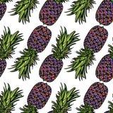 Modèle sans couture avec des ananas Images stock