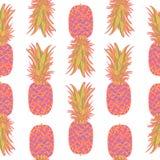 Modèle sans couture avec des ananas illustration stock