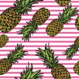 Modèle sans couture avec des ananas Image stock