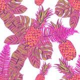 Modèle sans couture avec des ananas Photographie stock libre de droits