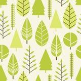 Modèle sans couture avec des arbres dans un style plat La saison est ressort, été Photographie stock libre de droits