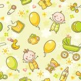 Modèle sans couture avec des bébés Images stock