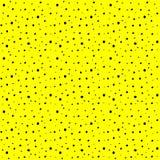 Modèle sans couture avec des baisses noires d'encre sur le fond jaune illustration stock