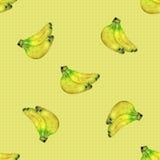 Modèle sans couture avec des bananes Photo libre de droits