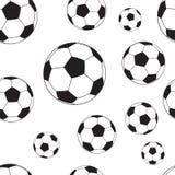 Modèle sans couture avec des boules du football Photo libre de droits