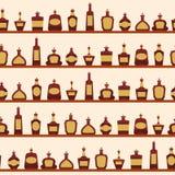 Modèle sans couture avec des bouteilles Photos stock