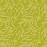 Modèle sans couture avec des branches d'olivier texture décorative b Photo stock