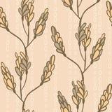 Modèle sans couture avec des branches et des bourgeons Photos libres de droits