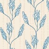 Modèle sans couture avec des branches et des bourgeons de couleurs douces Photographie stock libre de droits