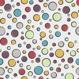 Modèle sans couture avec des bulles photo stock